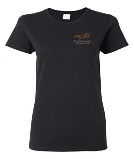 Audacious Women Black Round Neck T-Shirt