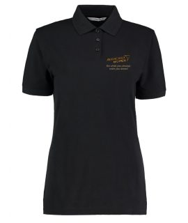 Audacious Women Black Polo Shirt