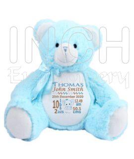 Birth Announcement Keepsake Personalised Bears